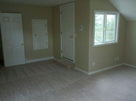 Mold Removal Portland, OR - After Mold Removal picture of attic bedroom entryway, walls and carpet results