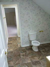 Mold Removal Portland, OR - After Mold Removal picture of attic bathroom walls and tile floors results