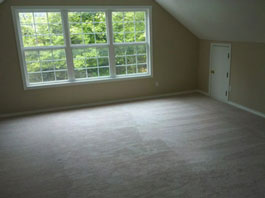 Mold Removal Portland, OR - After Mold Removal picture of attic bedroom walls, windows and carpets results